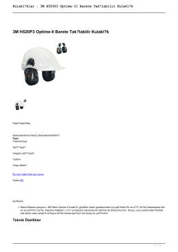 Kulaklıklar : 3M H520P3 Optime-II Barete Takılabilir Kulaklık