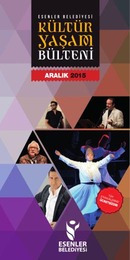 Esenler Kultur Bulteni Aralik 2015yusuf.indd