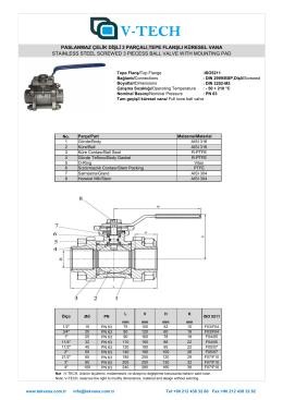 DKA-3-304 Küresel Vana,Aktuatör Takılabilir