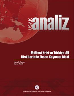 Mülteci Krizi ve Türkiye-AB İlişkilerinde Eksen Kayması Riski