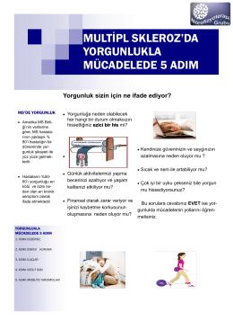 multipl skleroz`da yorgunlukla mücadelede 5 adım