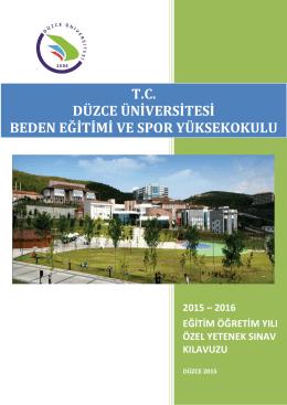 tc düzce üniversitesi beden eğ - Düzce Üniversitesi Beden Eğitimi