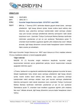 SIRKULER-2015-7-1-Kurumlar Vergisi Kanunu 2015