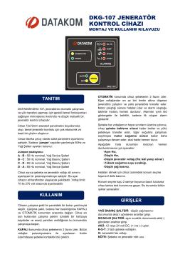 dkg-107 jeneratör kontrol cihazı