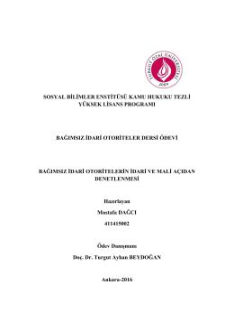 sosyal bilimler enstitüsü kamu hukuku tezli yüksek lisans programı