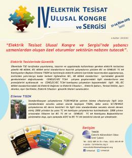 ELEKTRİK TESİSAT ULUSAL KONGRE IV ve SERGİSİ