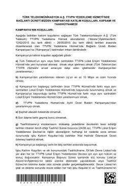 Taahhütname - Türk Telekom