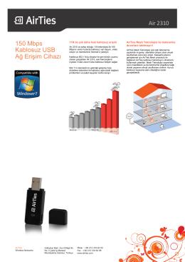 Air 2310 150 Mbps Kablosuz USB Ağ Erişim Cihazı