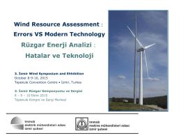 Rüzgâr Enerji Analizinde Belirsizlikleri Azaltmanın Maliyeti