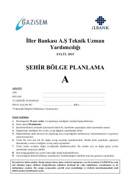 ŞEHİR BÖLGE PLANLAMA - İller Bankası Genel Müdürlüğü