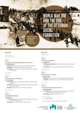May 16-17, 2015 İstanbul Şehir University