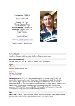 Muhammed ERDEN - PlaceHolder for imoistanbul.org