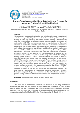 Teachers` Opinions about Intelligent Tutoring System