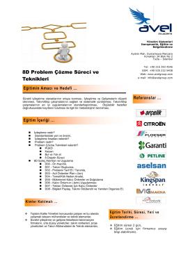 8D Problem Çözme Süreci ve Teknikleri