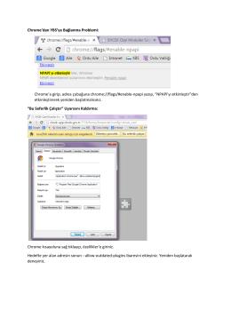 Google Chrome ile YBS`ye bağlanma Probleminin çözümü için