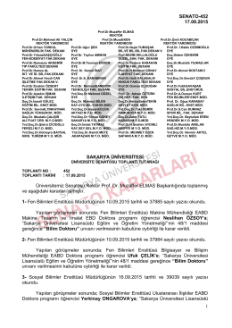 imzalar kontrol edildi - SENATO / ÜYK Kararları