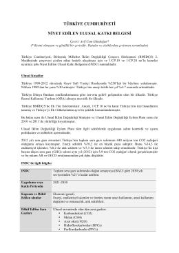 türkiye cumhuriyeti niyet edilen ulusal katkı belgesi