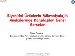Prof. Dr. Güven ÖZDEMİR - uluslararası katılımlı 2. ulusal biyosidal