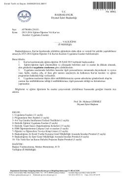 2015-2016 kuran kursları uygulama esasları