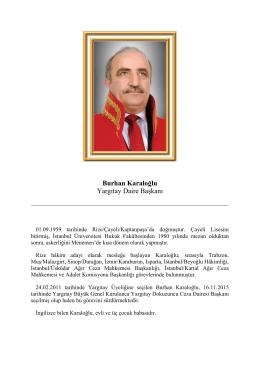 Burhan Karaloğlu Yargıtay Daire Başkanı