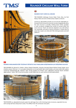 roundex circular wall form - TMS Formwork & Scaffolding Systems