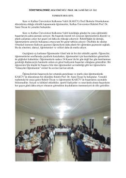 kars ve kafkas üniversitesi kalkınma vakfı özel ilkokulu/ortaokulu