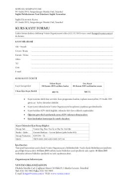 kurs kayıt formu