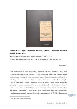 39 İstanbul`da Bir İngiliz Tercümanın Hatıraları, 1899