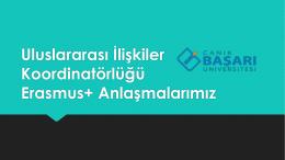2015-2016 Dönemi Erasmus+ Faaliyetleri
