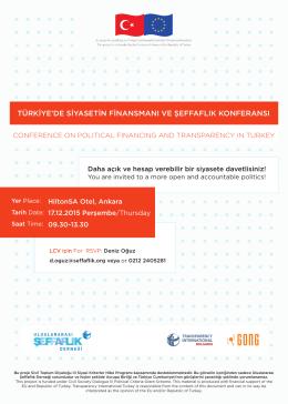 türkiye`de siyasetin finansmanı ve şeffaflık konferansı