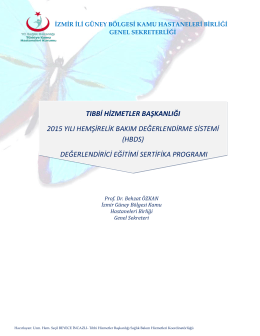 HBDS Degerlendirici Egitimi - Aktivite Raporu