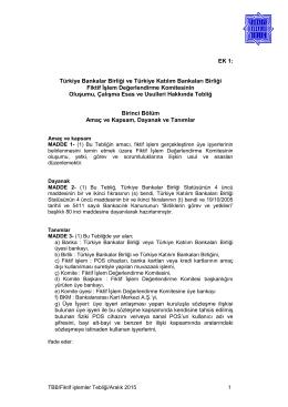 Türkiye Bankalar Birliği ve Türkiye Katılım Bankaları Birliği Fiktif