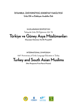Türkiye ve Güney Asya Müslümanları Turkey and South Asian Muslims