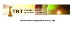 gösterim programı / screenıng schedule