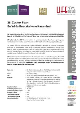 26. Zuchex Fuarı Bu Yıl da İhracata İvme Kazandırdı