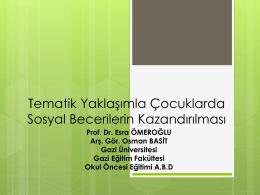 Prof.Dr. Esra ÖMEROGLU