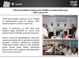TCDD Genel Müdür Yardımcısı ve