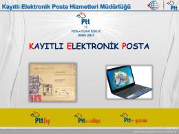 PTT Pazarlama Müdürü Aşkın Aslan Kayıtlı Elektronik Posta(KEP)