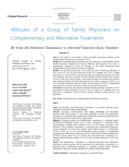 Attitudes of a Group of Family Physicians on Complementary and
