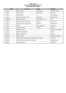 arel koleji 2015 - 2016 eğitim