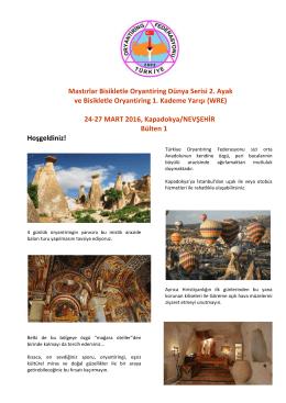 1.Bülten - Türkiye Oryantiring Federasyonu