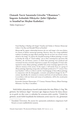 Osmanlı Tasvir Sanatında Görselin Okunması: İmgenin