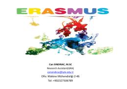Erasmus Öğrencisi-Can SINDIRAÇ`ın Sunumu