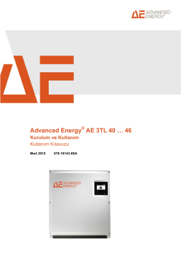 Advanced Energy AE 3TL 40 … 46