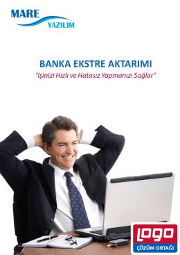 BANKA EKSTRE AKTARIMI