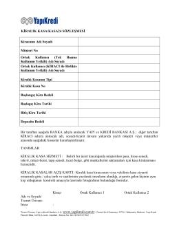 kiralık kasa sözleşmesi