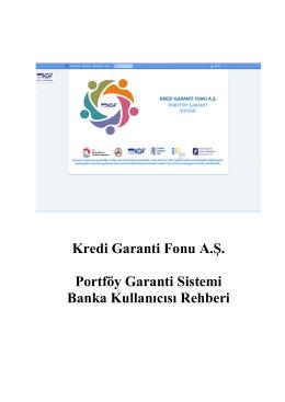 KGF Portfoy Garanti Sistemi PGS Banka Kullanim Kilavuzu