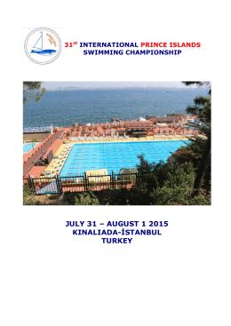 11. uluslararası prens adaları yüzme sampıyonası