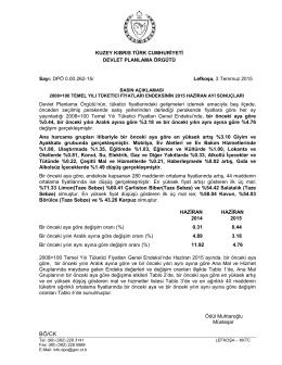 Haziran - KKTC Devlet Planlama Örgütü