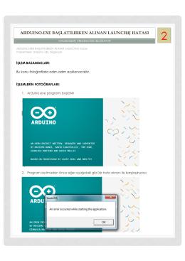 Arduino.exe Başlatılırken Alınan Launch4j Hatası